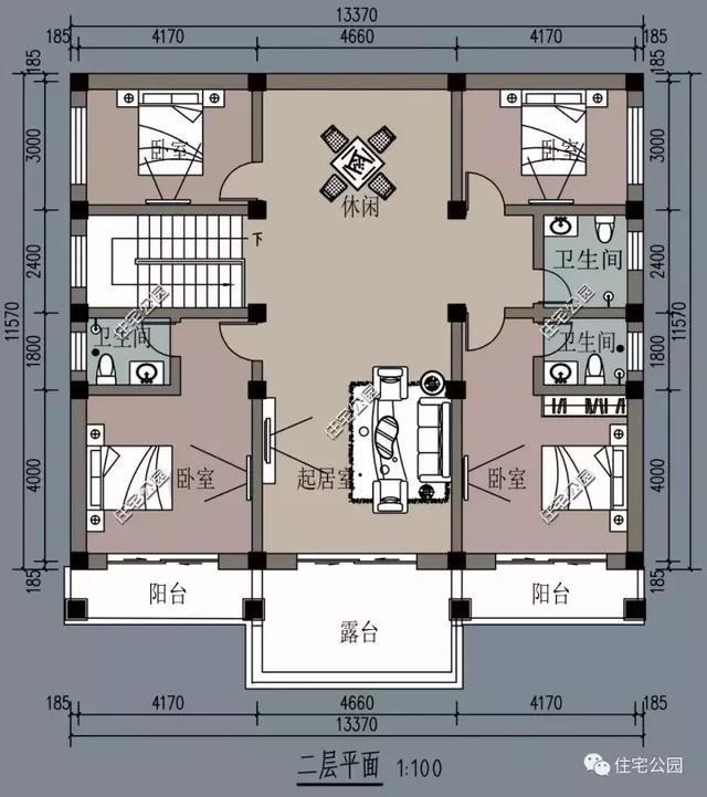 8套小户型农村别墅,面宽8到10米就这样建,第5套最好?