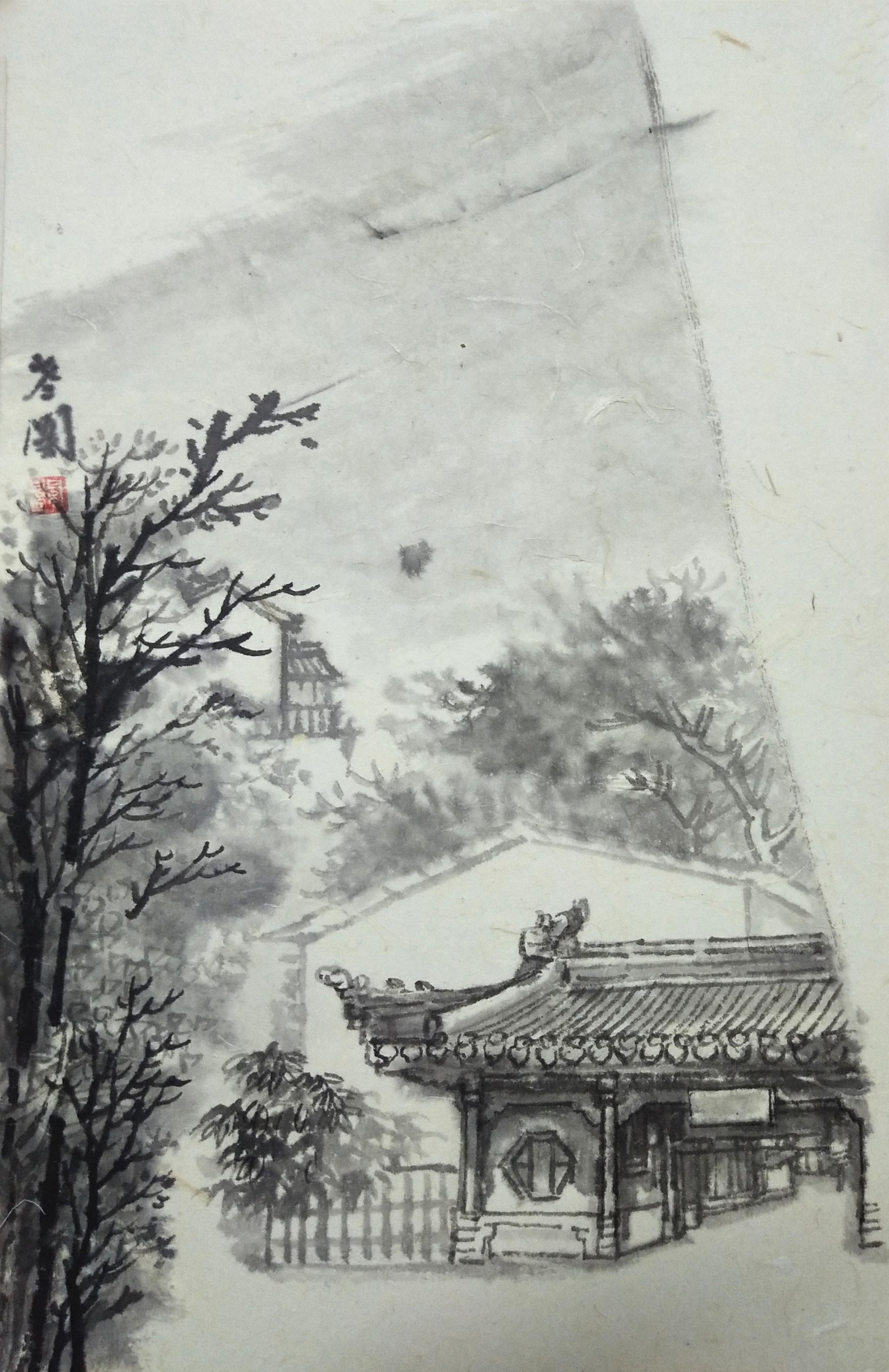 中国人民大学李晓松山水画高研班长清,青州写生实录