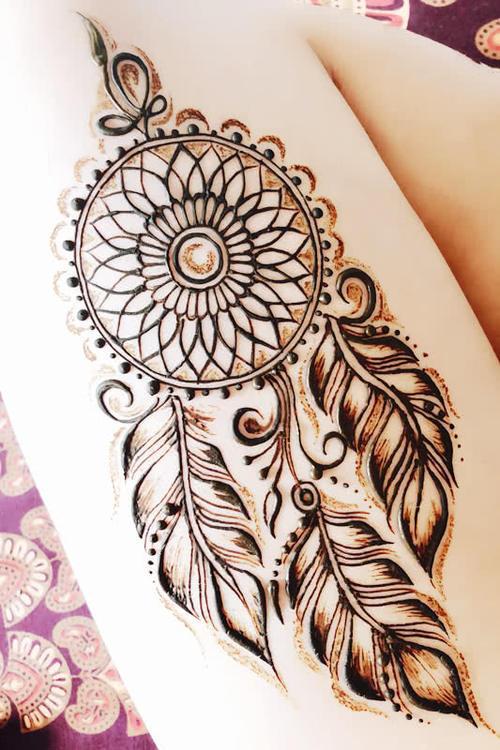 印度曼海蒂海娜手绘和纹身的区别是什么?