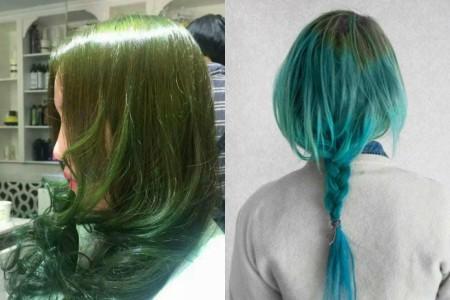 染头发是很多女性喜欢做的事情,其中近些年来染闷青色渐变头发的女性