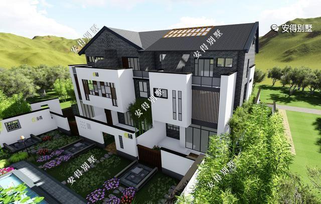 大胆创别墅才会大栋_这才是农村中式别墅该有的模样,有花有水有庭院,白墙青砖大露台