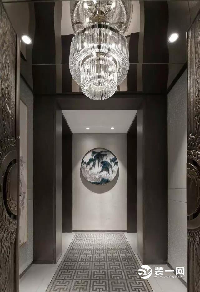 雅致美展东方情怀 12款新中式玄关|客厅装修效果图图片