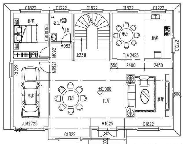 晒家|2款欧式二层农村别墅户型设计施工效果图