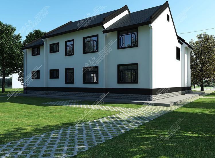 回鄉下蓋起了頗具特色的鄉村別墅 不信先看看農村輕鋼別墅設計效果圖