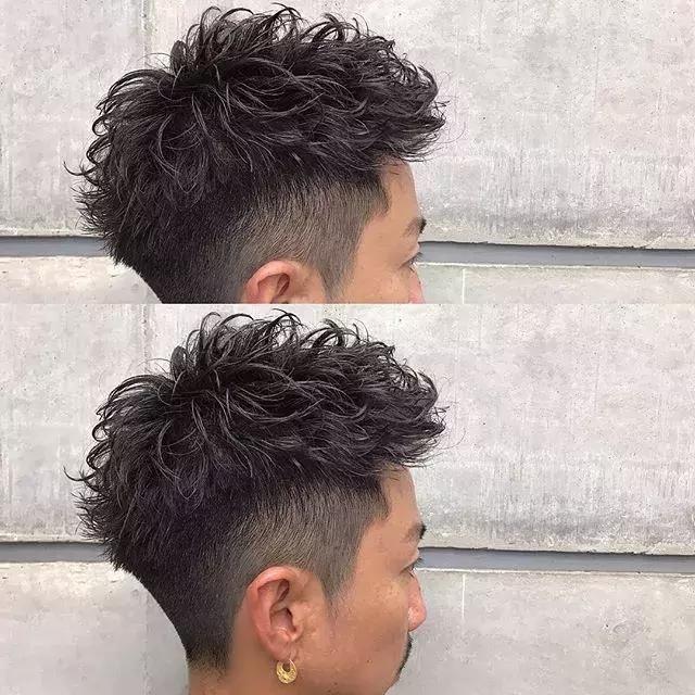 最新男士发型烫发造型图片