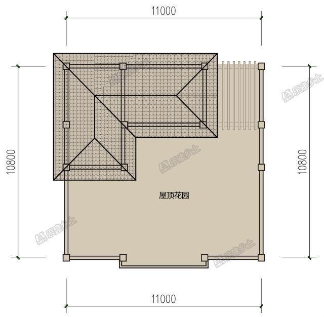 屋顶平面图