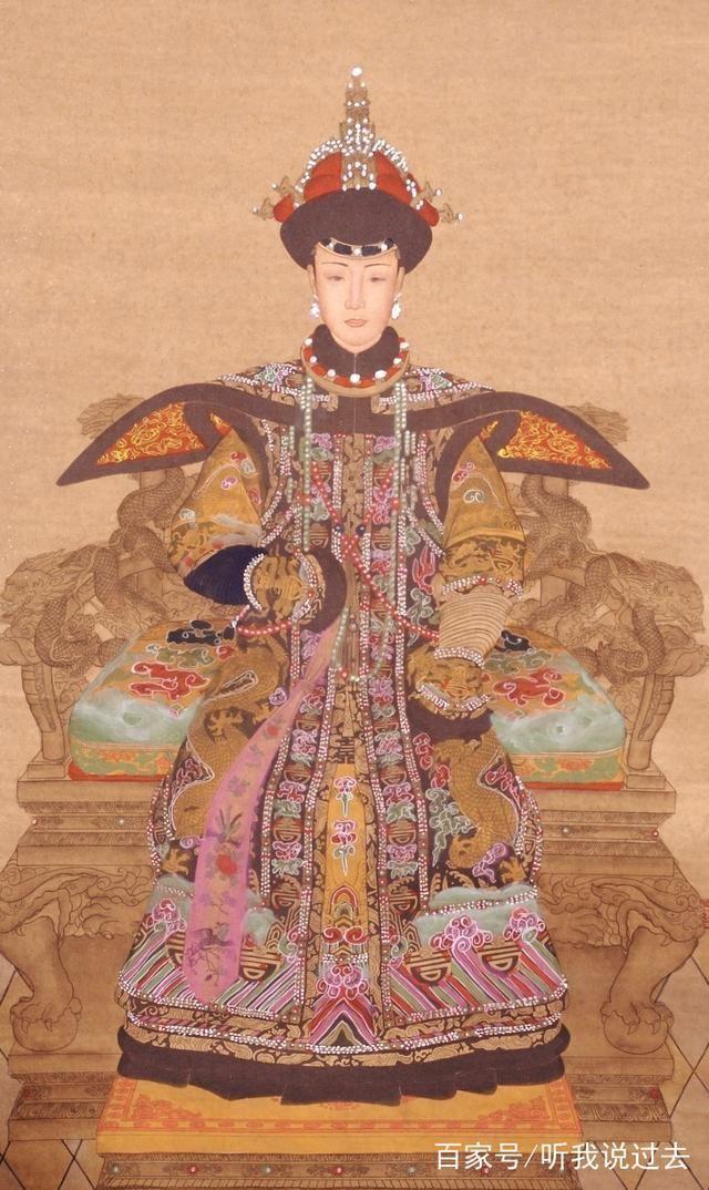 清朝历代皇后的画像,孝庄皇后体态风韵,慈禧太后判若两人!图片