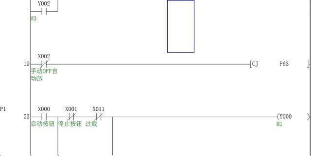 三菱fx plc基本指令编程-跳转指令cj控制电机不同运行