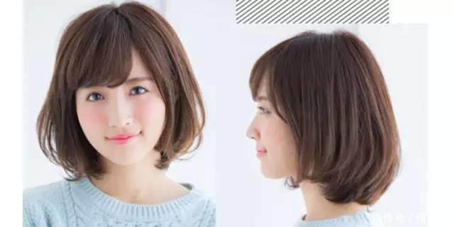 男士圆脸适合剪女生,脸上肉肉的,试一试赵好看的短发短烫发图片