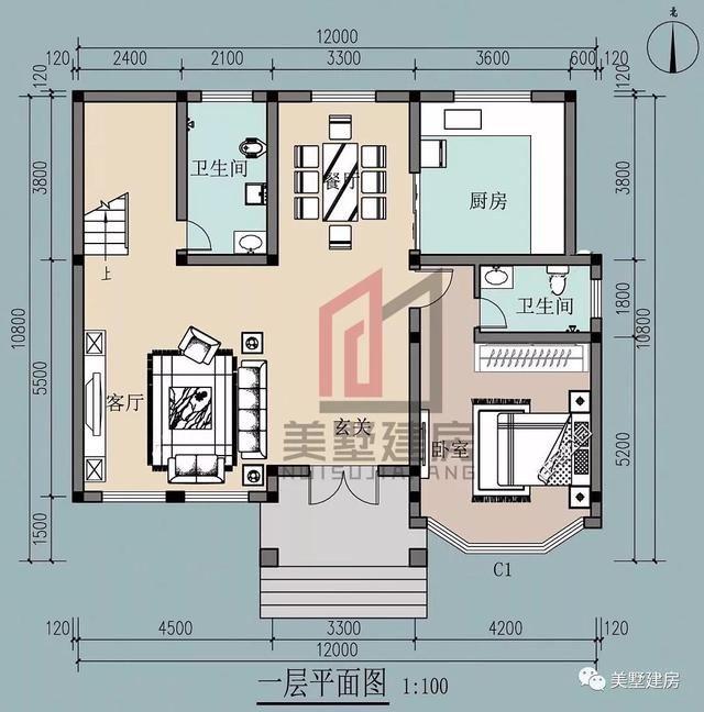 160平方房子结构图三楼