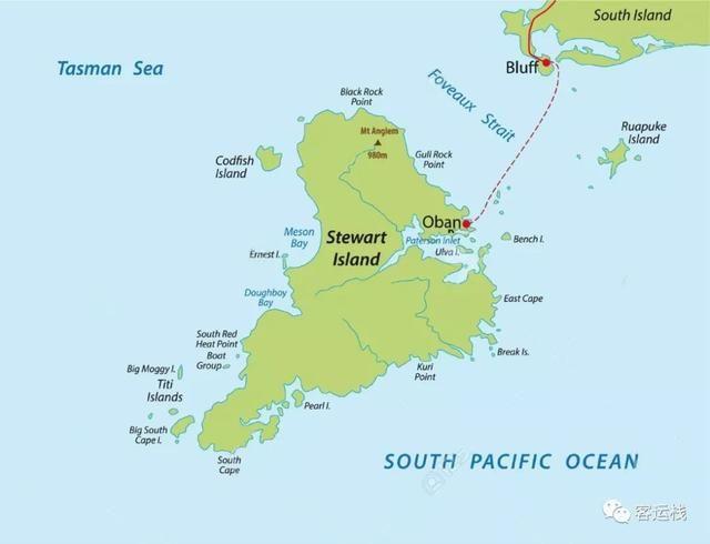 斯图尔特岛地图,图片来自123rf 此时,户外的风雨显然比抵达前的对岸