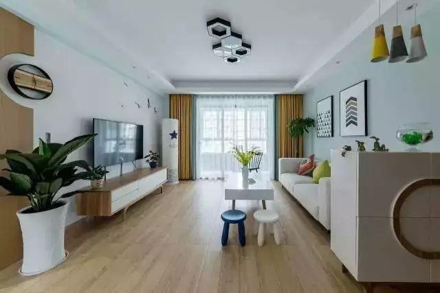 108北欧风格美家,客厅的装修的超温馨舒适!值得借鉴