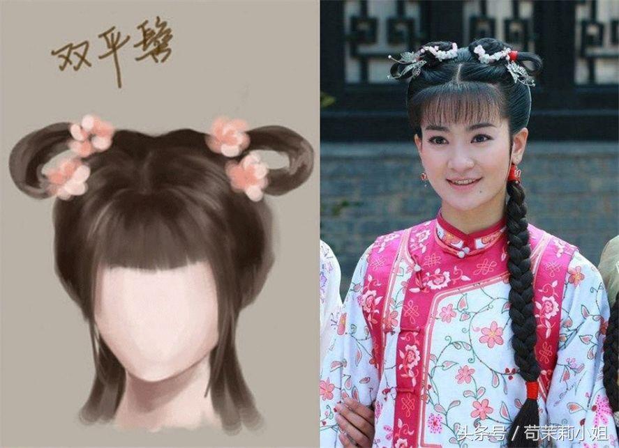 赵丽颖的灵蛇髻,刘诗诗的一字髻,古装剧里的发型都是有依据的图片