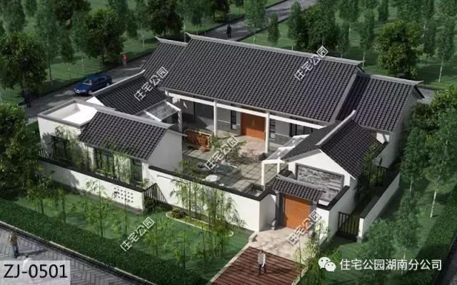 10套农村别墅户型,40万欧式小院与35万中式小院,谁更适合农村?