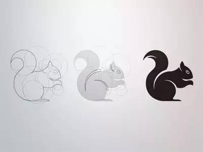 形状组合图片动物