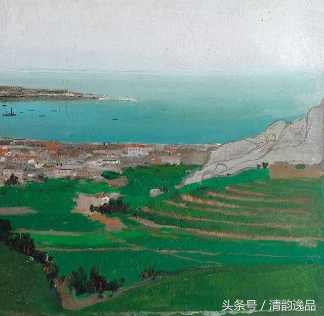 名画欣赏:吴冠中巨幅油画《山东荣成龙须岛》