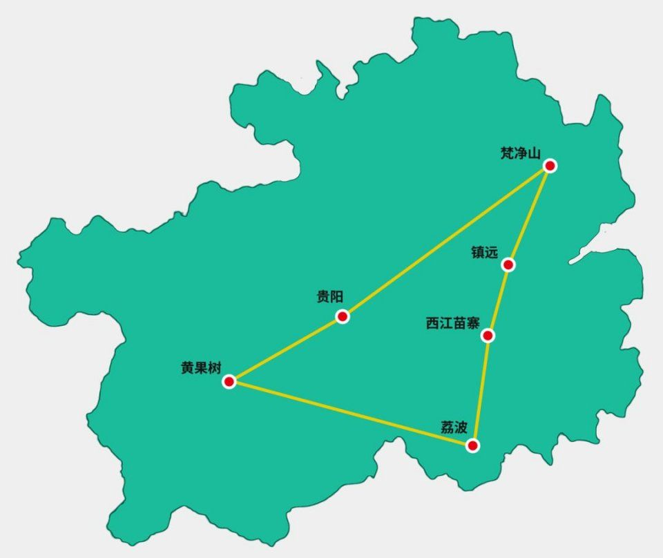 贵州省各县地图古城