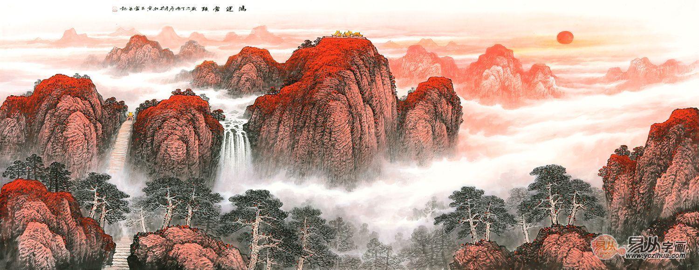 当代极具收藏价值的书画家王宁:泰山情 雄浑苍劲的意境图片