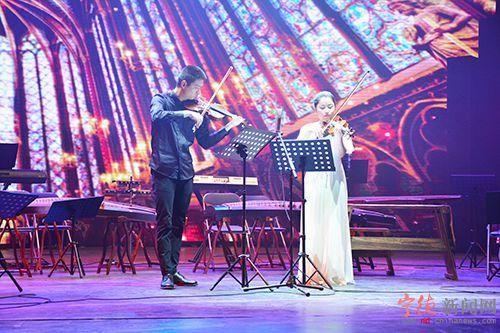 《喜洋洋》,弦乐二重奏《肖斯塔科维奇小提琴二重奏》,琵琶演奏《欢沁
