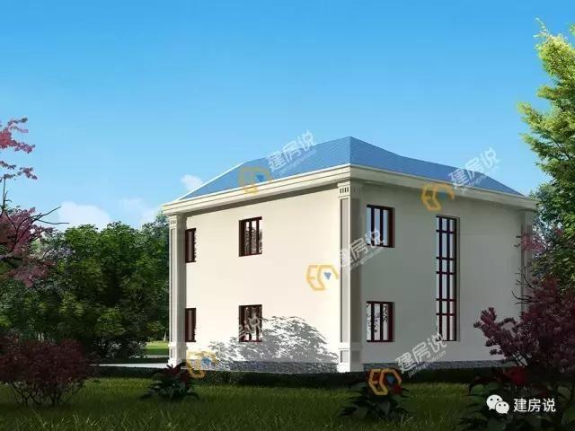 带大露台的3栋二层农村别墅,施工难度小造价低,建了邻里都夸好