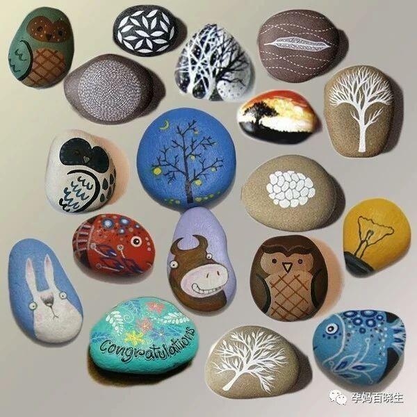 简单的亲子互动:和宝宝一起来画个小石头吧!图片