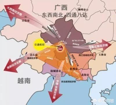 规划了以下铁路:合湛高铁,贵南高铁,南宁至崇左高铁,贺州至梧州至玉林
