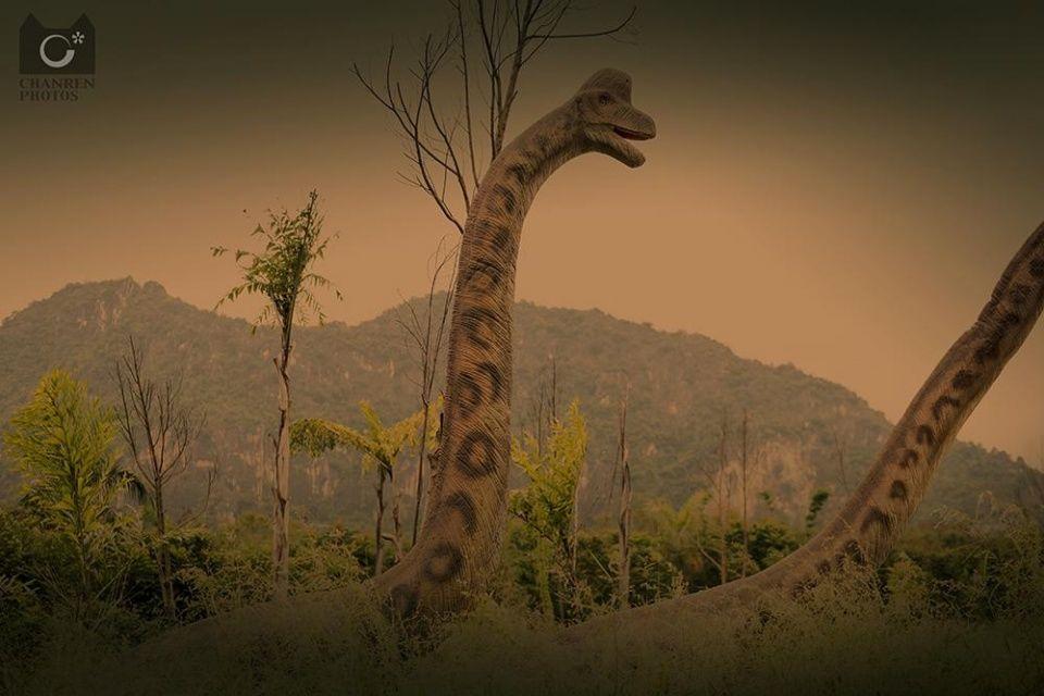 恐龙栖息地,恐龙岛,三叠纪,侏罗纪,白垩纪,恐龙废墟等实景展示,对恐龙