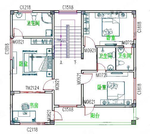 三层25万平屋顶100平米1厅5卧农村自建房,卧室均带独立卫生间!图片