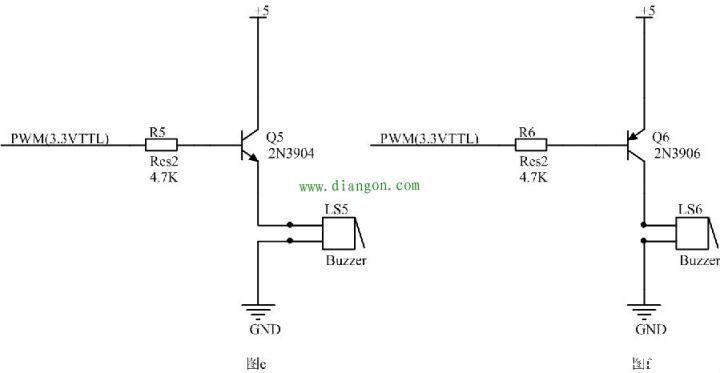 蜂鸣器放大电路电路图npn