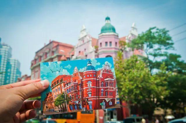 这些青岛手绘明信片美上天,它们带你游青岛!