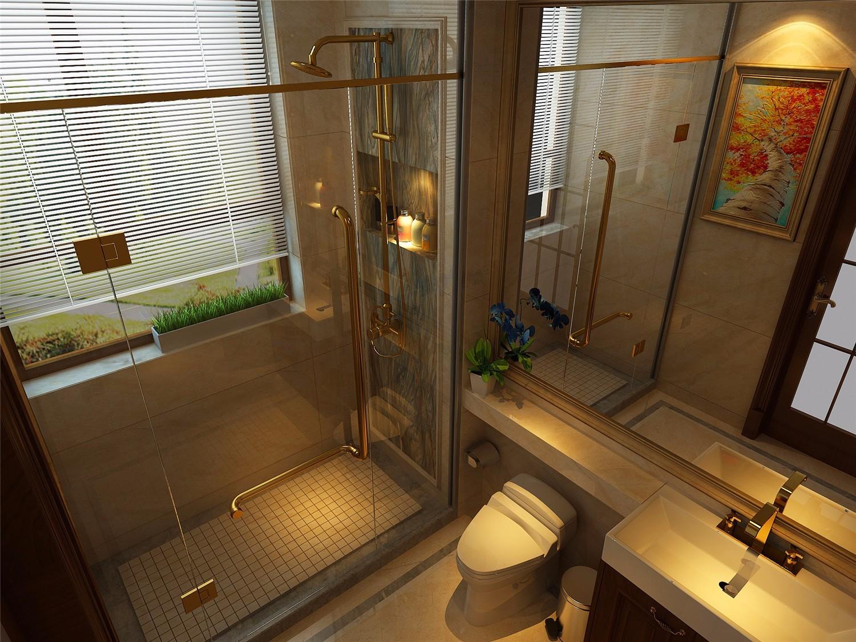 项目一层公共洗手间效果图表现