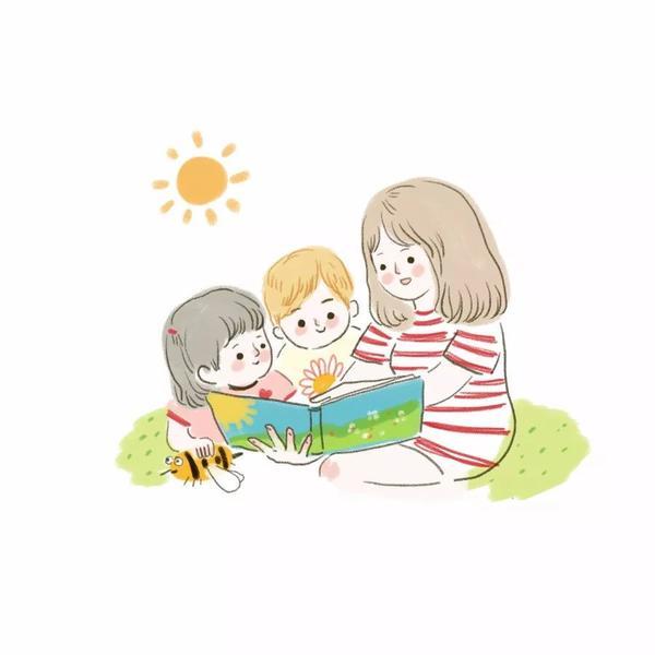 小朋友吃饭简笔画彩色