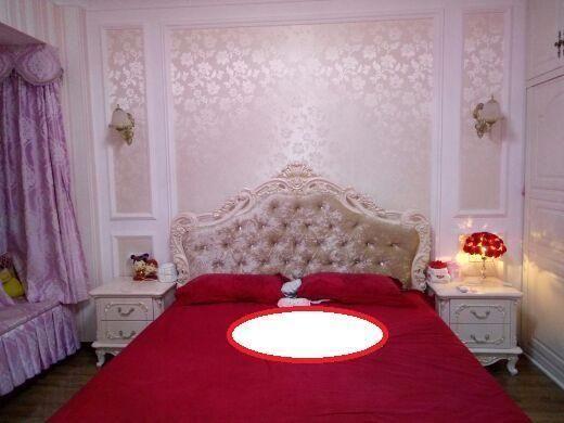 欧式婚房床头正面图片