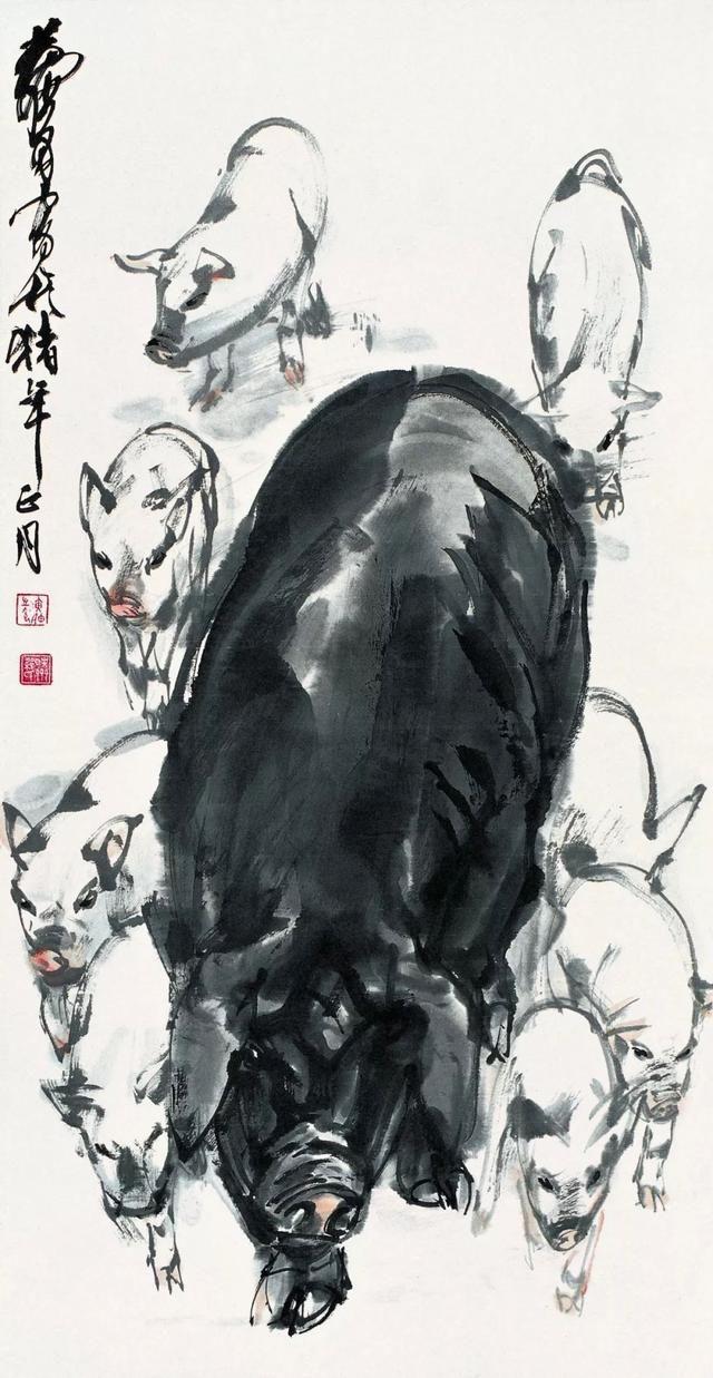 齐白石,徐悲鸿,黄胄,黄永玉,韩美林名家画猪,新年诸事图片