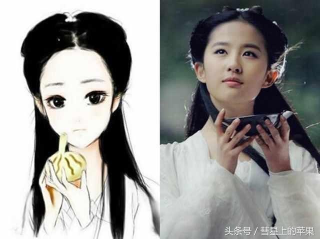 """女明星的""""q版画像"""",杨幂,热巴太可爱,被赵丽颖萌化了"""