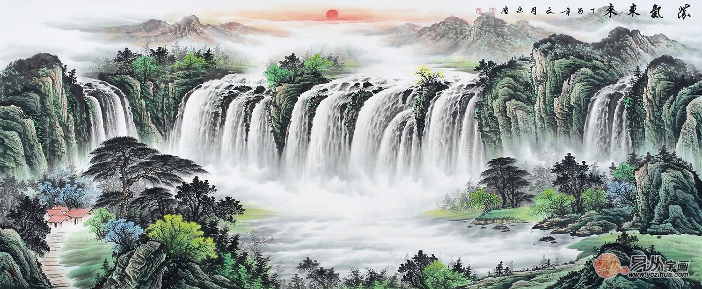 松树山水画风景秀丽美景多!