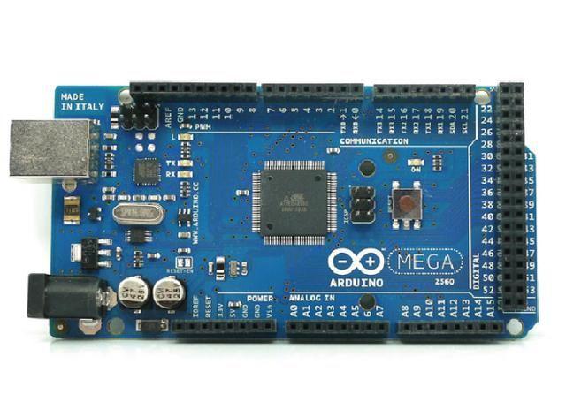 一种是mega2560,一种是stm32系列;如图电路板中间黑色的集成块就是