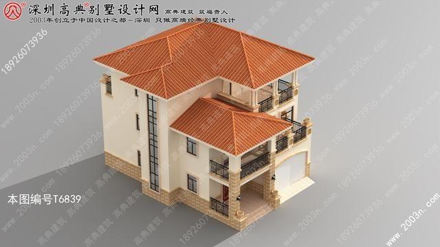 三层带别墅图片设计图别墅三层乡村车库效果图上窄的宽下外观别墅图片