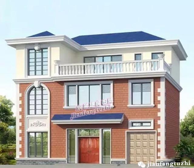 带大露台别墅设计方案,本方案为客厅采用仿落地大窗,采光极好,窗户