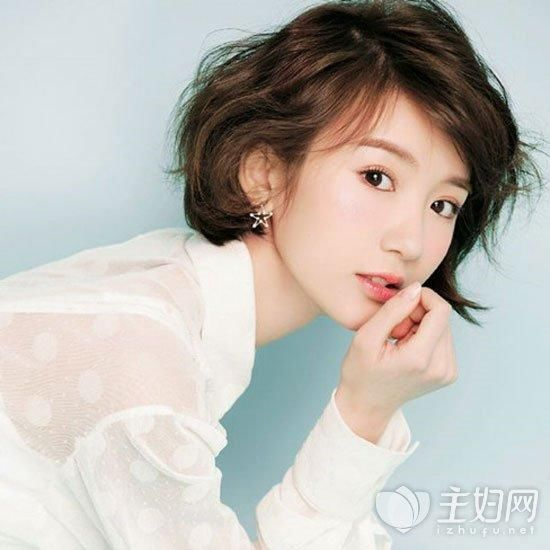 韩式发型显脸瘦齐耳炫酷短发造型中性短发齐耳瘦脸修颜短发图片