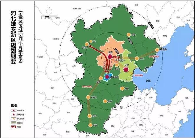 区域高速公路规划图,新区城乡空间布局结构示意图,起步区空间布局示意