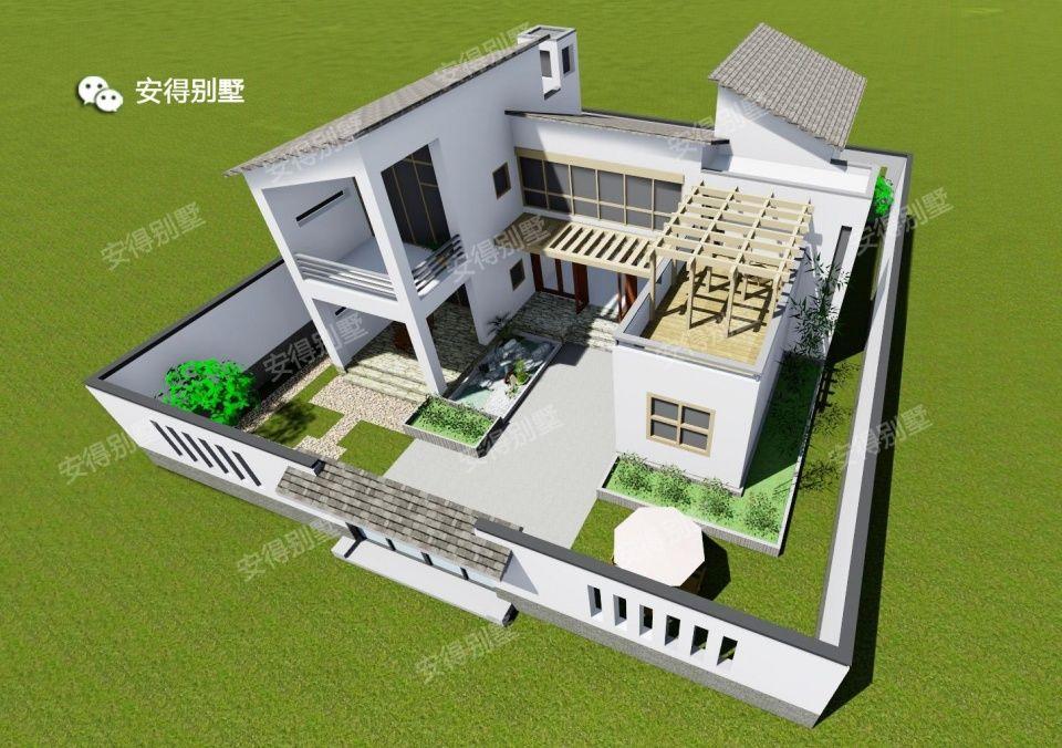 农村小户型三合院设计,30万主体造价庭院却花了10万,到底值不值