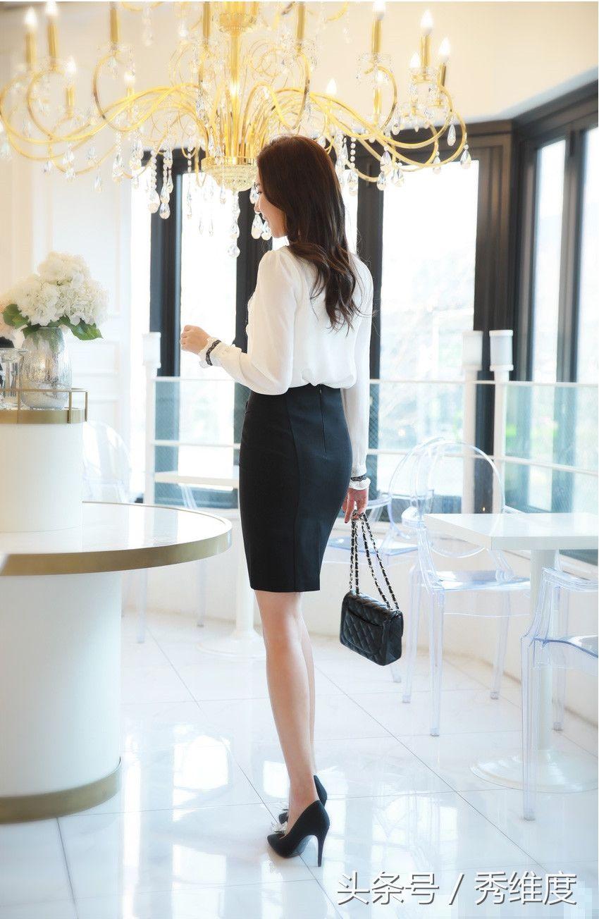 美女模特,a蕾丝蕾丝女性镶边雪纺衬衫,学院职业滨海青岛黑色美女图片