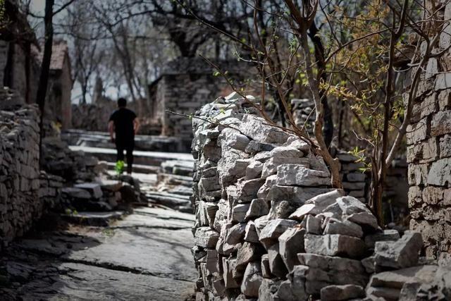 王家辇村南靠黑山风景区.