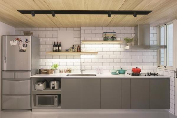 3,一字型厨房装修 一字型厨房装修 一字型厨房是比较节省空间的组合