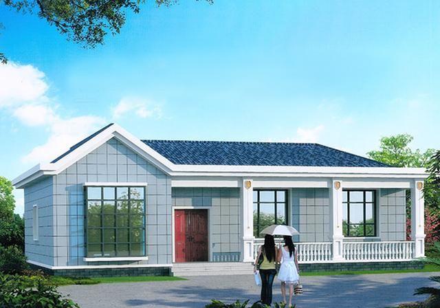 农村自建一层平房别墅分享,实用经济,两厅两卫四室绝对够用!