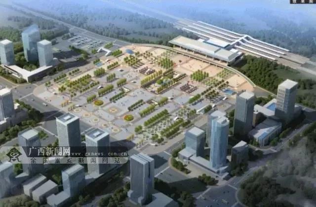 贺州火车站站房改造效果图.中国铁路南宁局集团公司供图