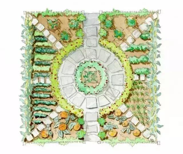 几何花园平面图