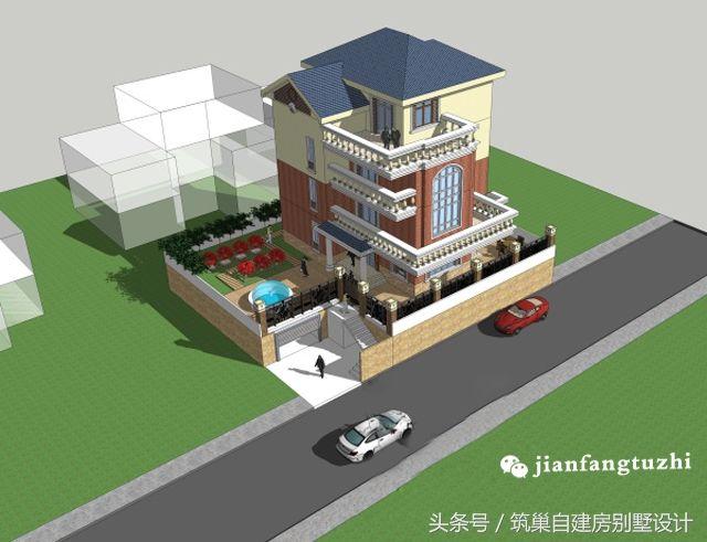 三层半简欧式函件别墅设计四层地下图纸室外楼提供设计图纸关于的车库图片