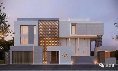 平屋顶现代简约的别墅,不仅因为它鲜明的线条,和简单爽朗的造型图片